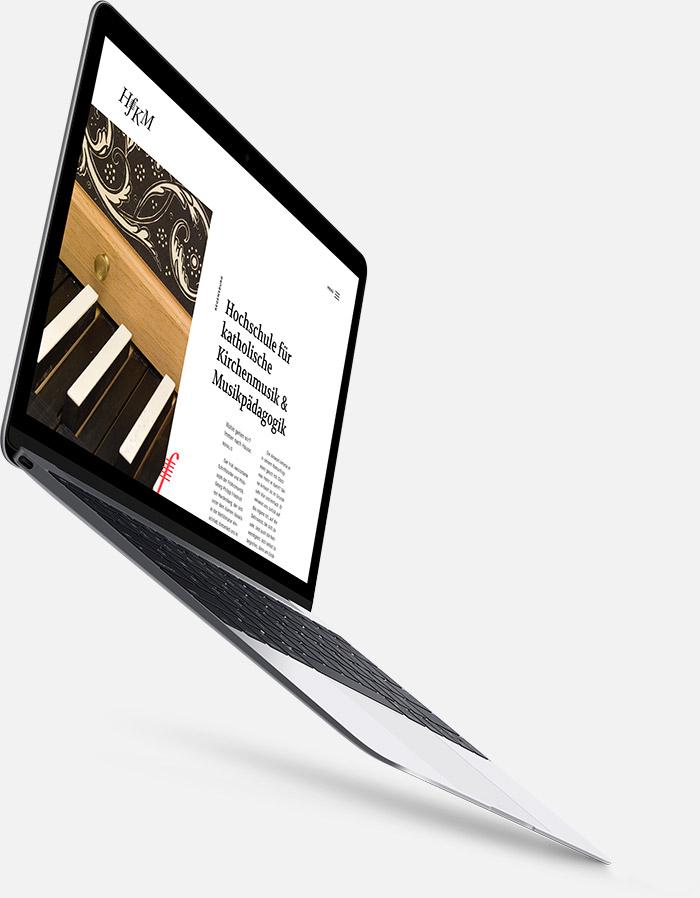 Webdesign für HfKM Regensburg