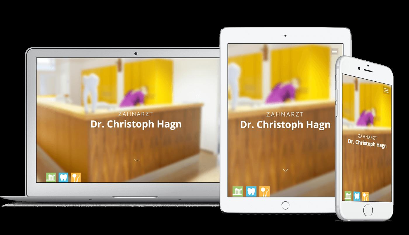 Webdesign und Webentwicklung für Zahnarzt Dr. Hagn in Nittenau