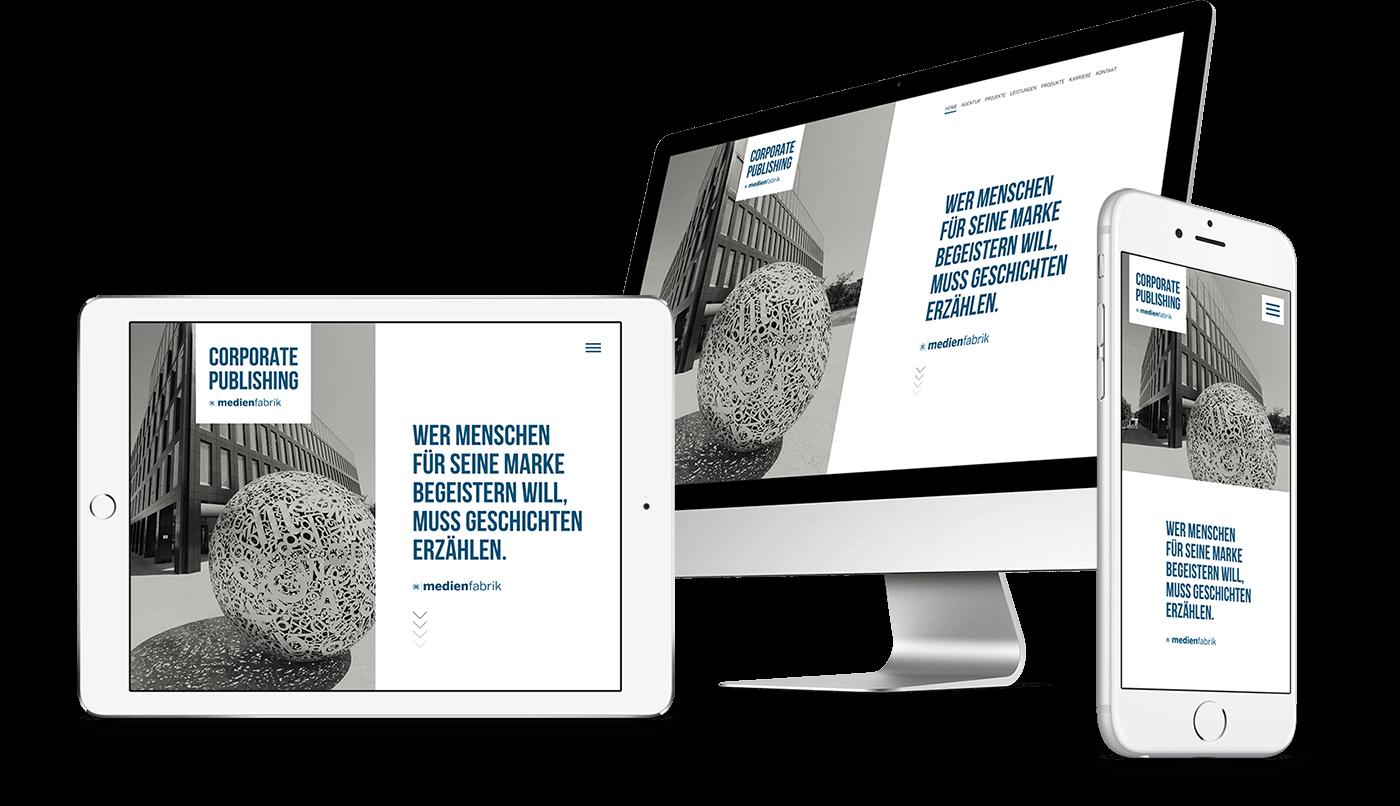 Webdesign und Webentwicklung für Mittelbayerische Medienfabrik in Regensburg