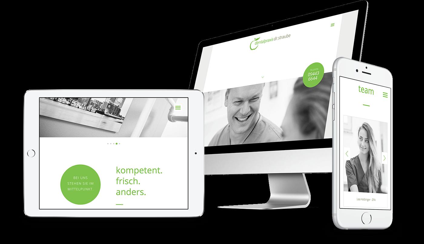 Webdesign und Webentwicklung für Dentalpraxis Dr. Straube in Abensberg