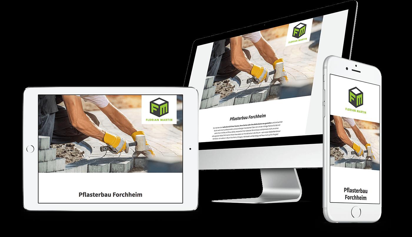 Webdesign und Webentwicklung für FM Pflasterbau in Forchheim