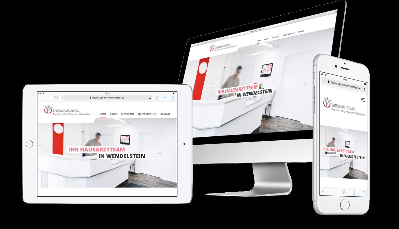 Webdesign und Webentwicklung für Hausarztpraxis in Wendelstein