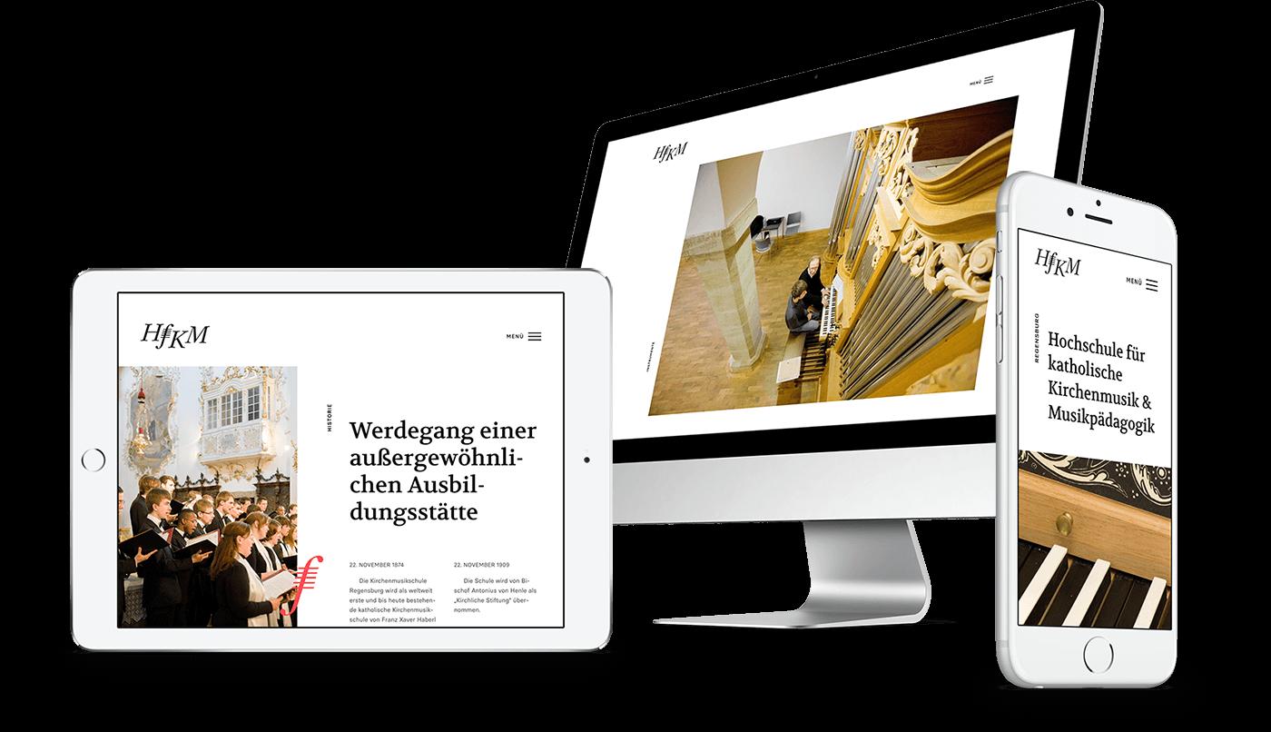 Webdesign und Webentwicklung für HfKM Regensburg