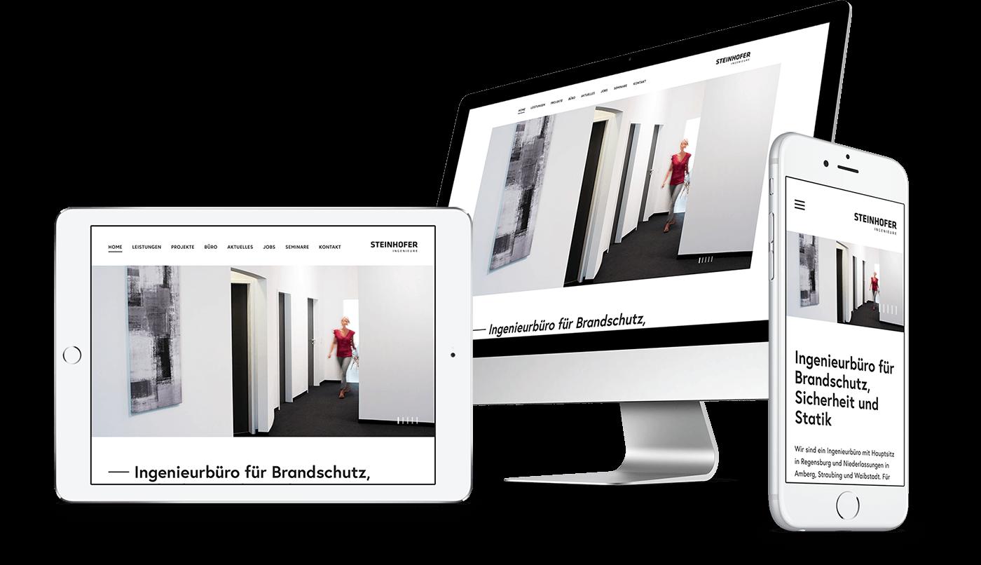 Webdesign und Webentwicklung für Steinhofer Ingenieure in Regensburg