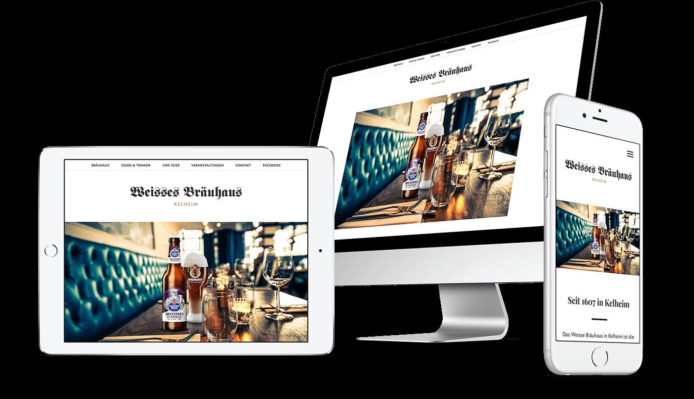 Webdesign und Webentwicklung für Weisses Bräuhaus Kelheim