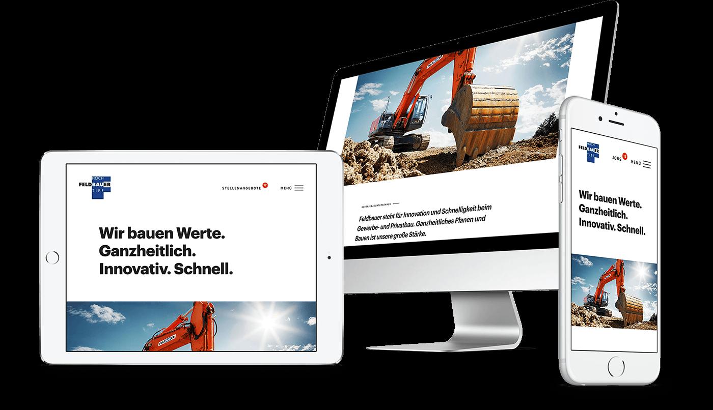Webdesign und Webentwicklung für Feldbauer Bau GmbH in Roding