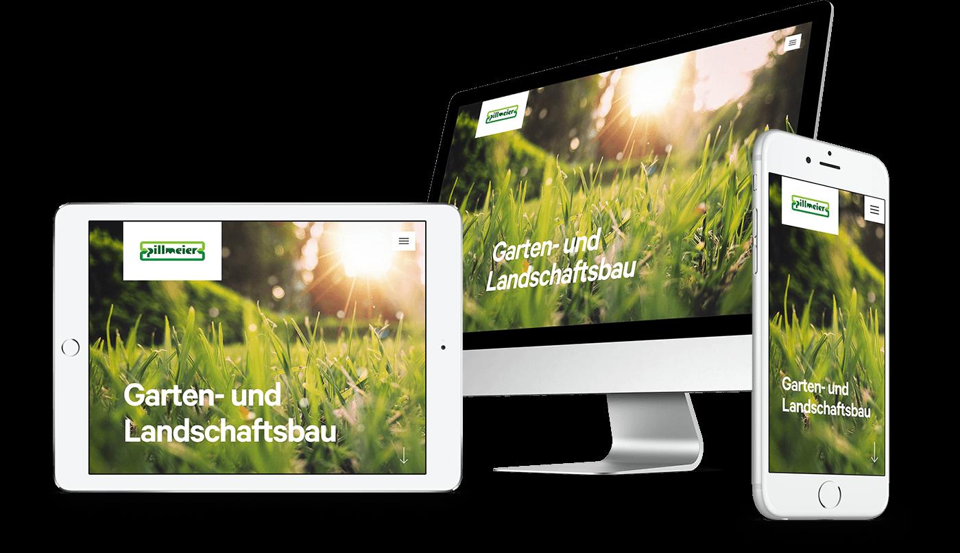 Webdesign und Webentwicklung für Pillmeier GmbH in Abensberg