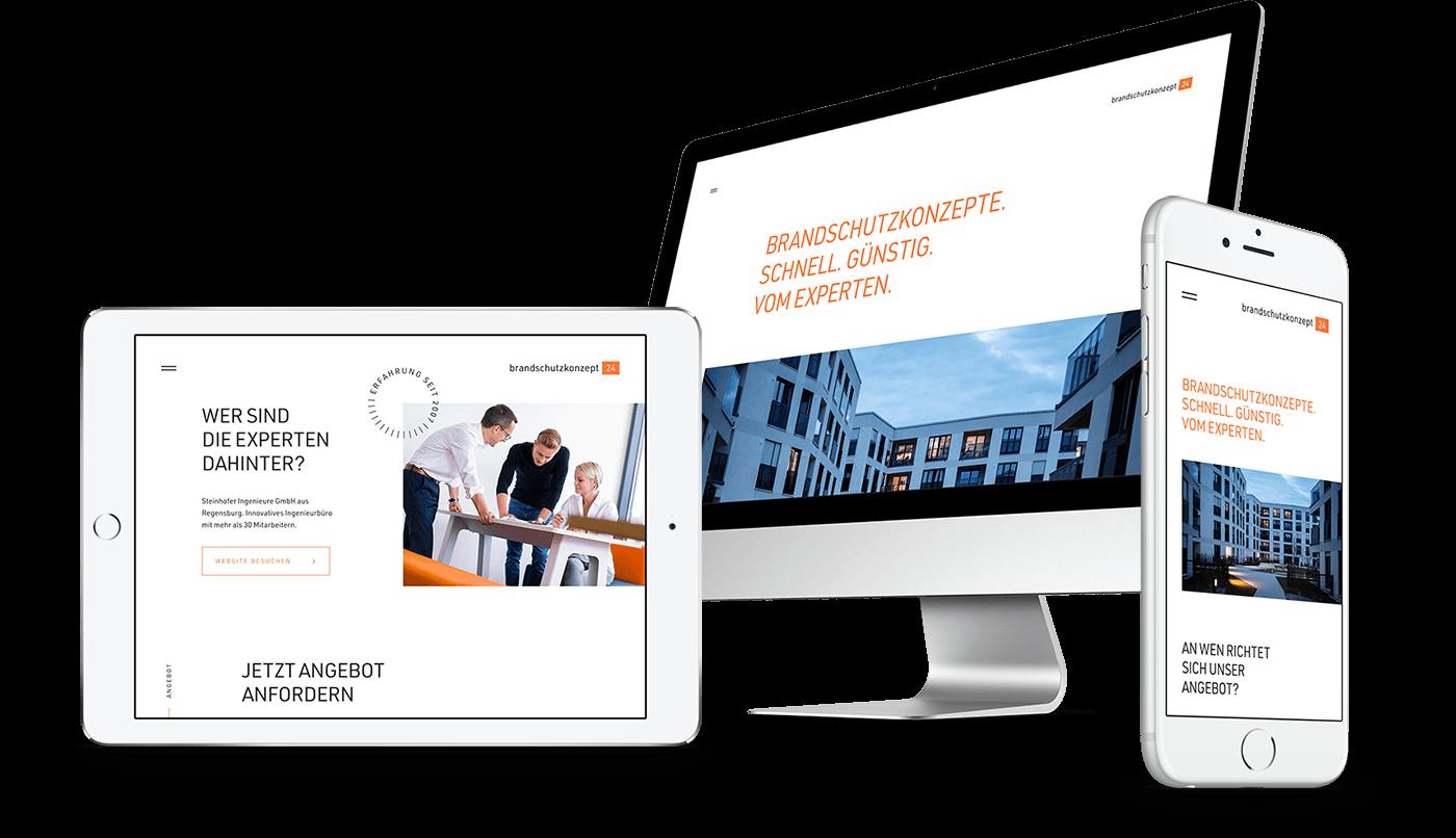Webdesign und Webentwicklung   brandschutzkonzept24   Regensburg